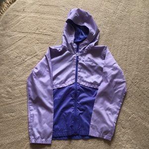 Girls purple rain jacket
